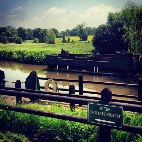 The canal boat jetty at Groombridge Place