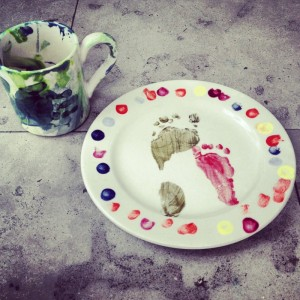 painted crockery from FireWorks Lewes