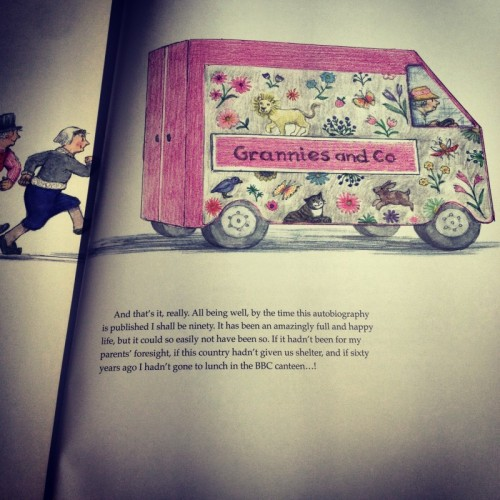 judith-kerr-illustration-of-old-ladies-getting-into-a-floral-van