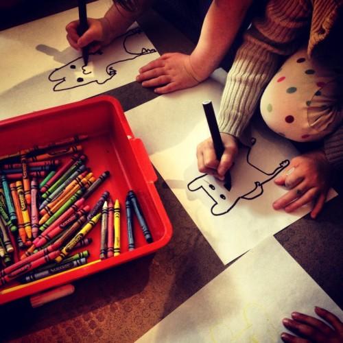 children-drawing-bears