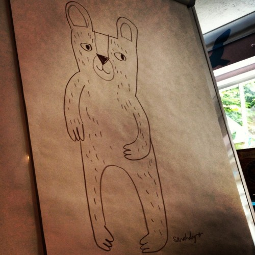 a-drawing-of-a-bear