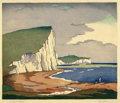 Cuckmere Haven by Eric Slater, 1930s via