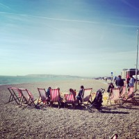 Sand, Sunchairs + Sarnies: Frankie's Beach Cafe, Seaford, East Sussex